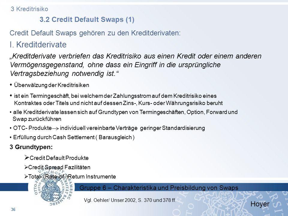 3 Kreditrisiko 3.2 Credit Default Swaps (1)