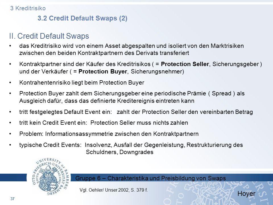 3 Kreditrisiko 3.2 Credit Default Swaps (2)