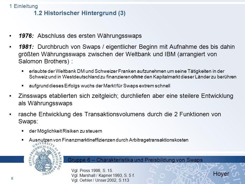 1976: Abschluss des ersten Währungsswaps