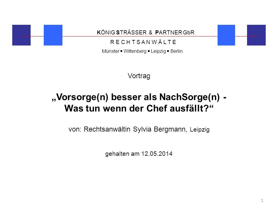 von: Rechtsanwältin Sylvia Bergmann, Leipzig
