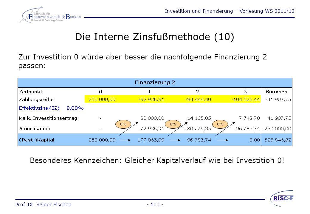 Die Interne Zinsfußmethode (10)