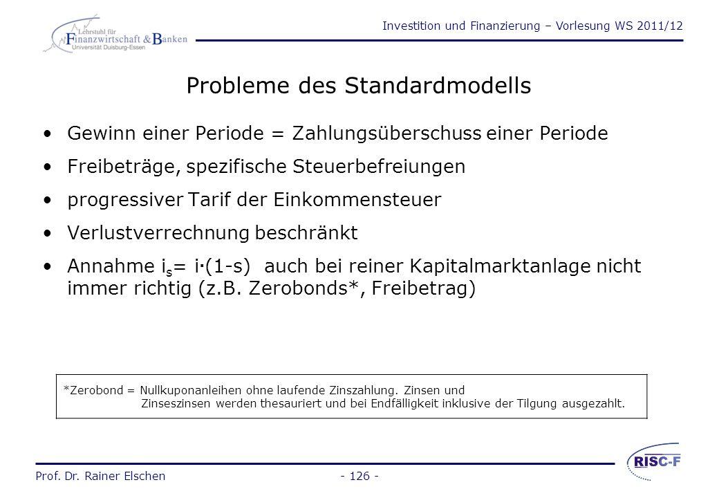 Probleme des Standardmodells