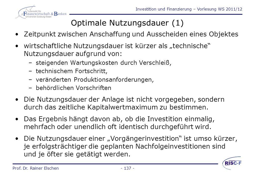 Optimale Nutzungsdauer (1)