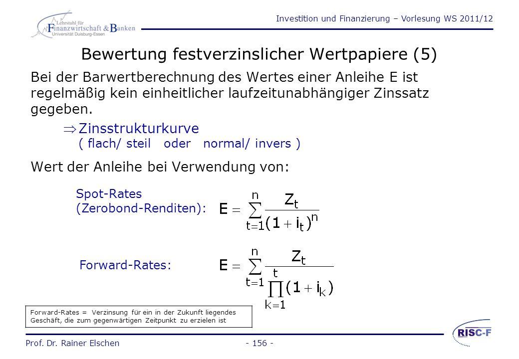 Bewertung festverzinslicher Wertpapiere (5)
