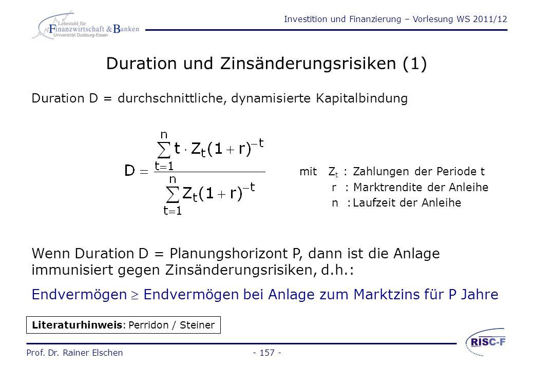 Duration und Zinsänderungsrisiken (1)