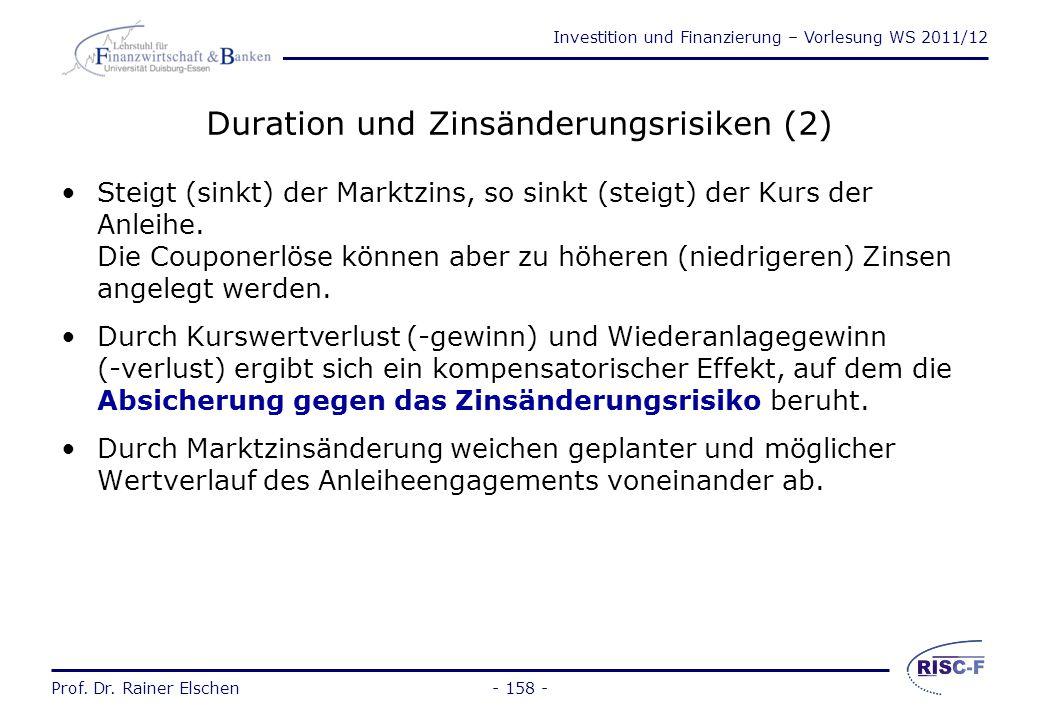 Duration und Zinsänderungsrisiken (2)