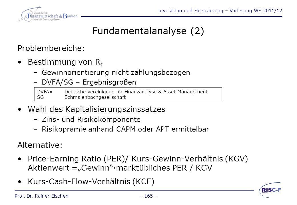 Fundamentalanalyse (2)