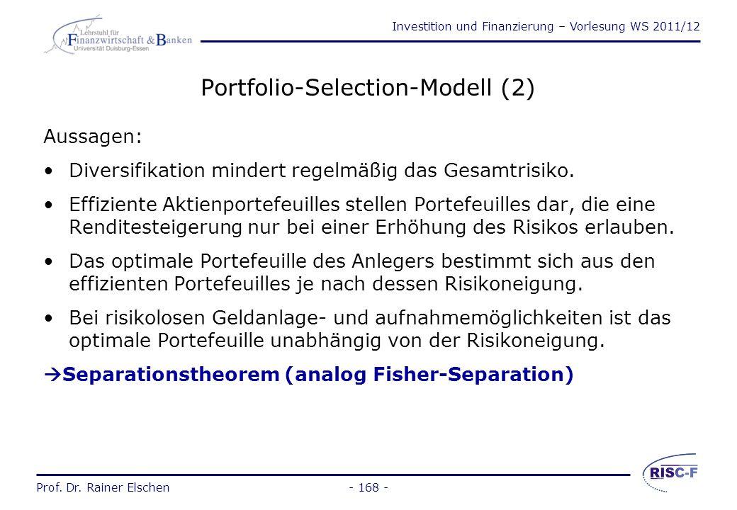 Portfolio-Selection-Modell (2)