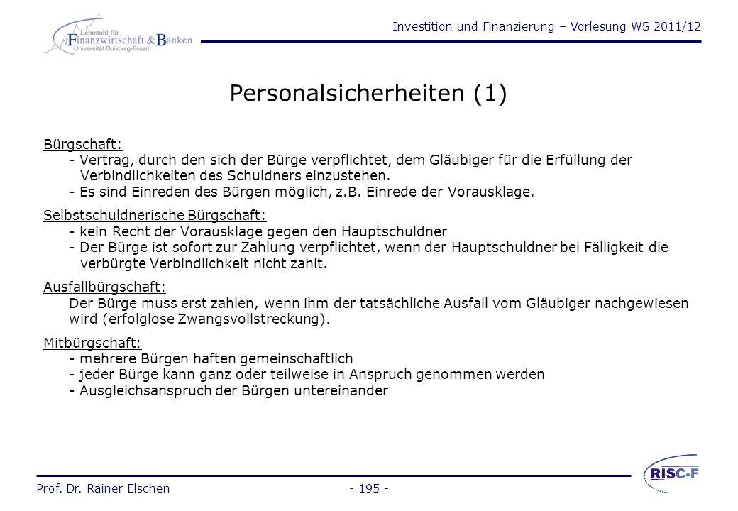 Personalsicherheiten (1)