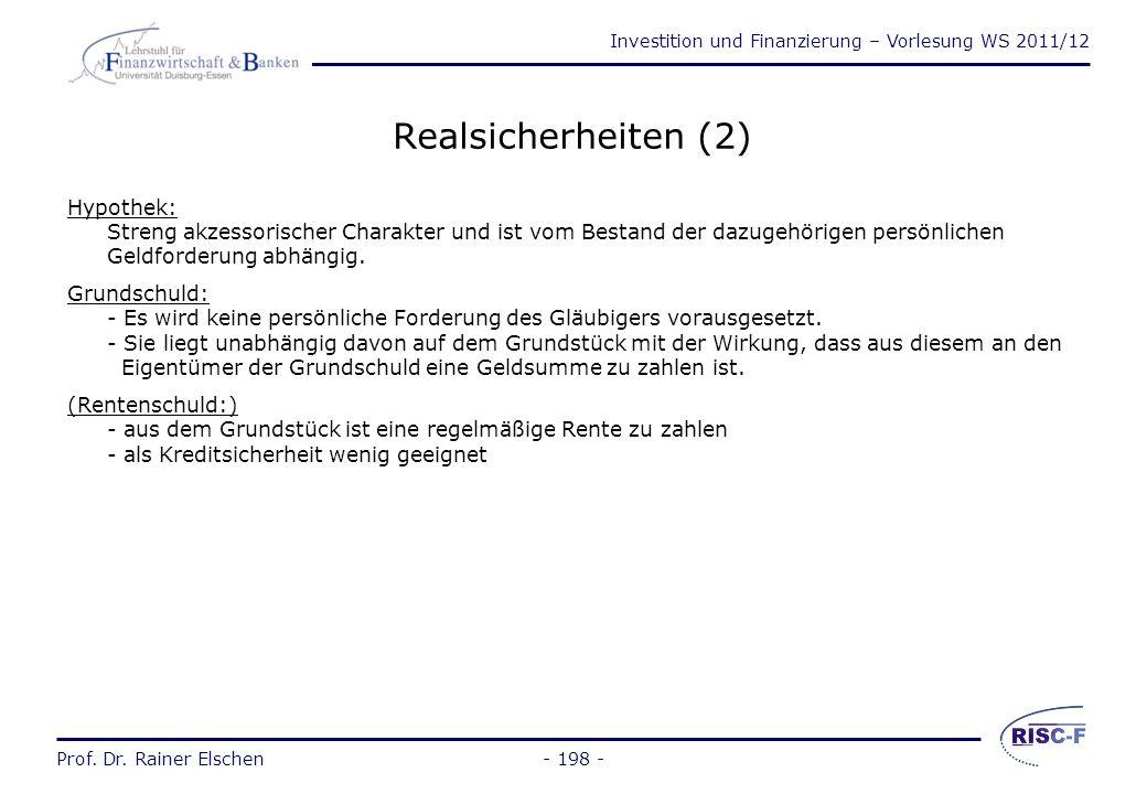 Realsicherheiten (2)