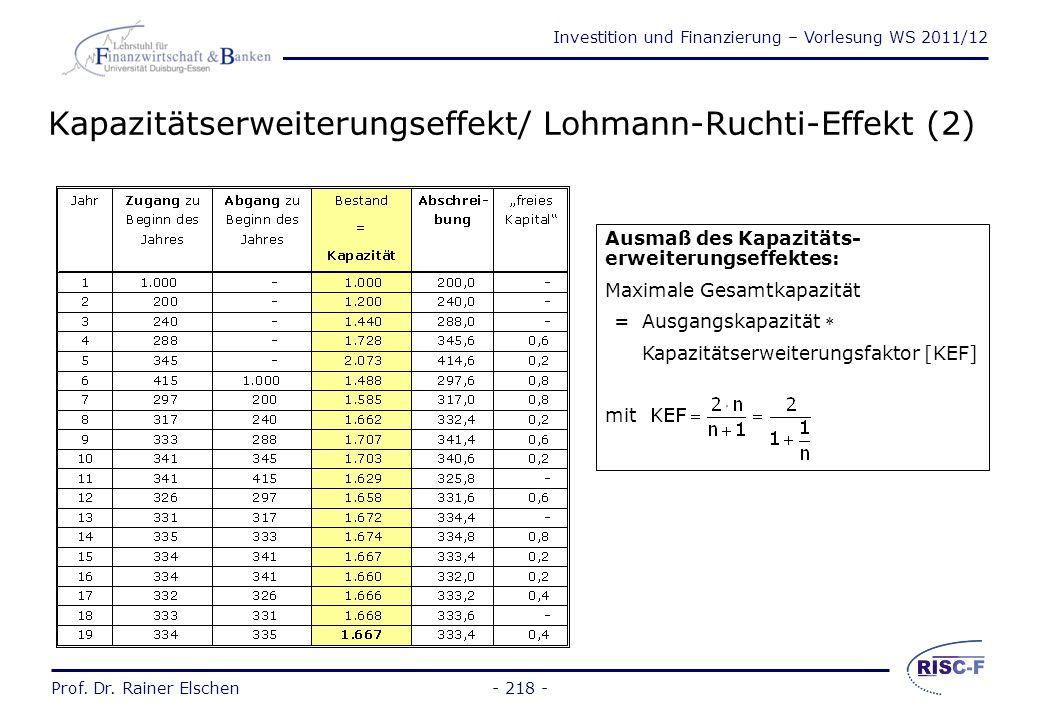 Kapazitätserweiterungseffekt/ Lohmann-Ruchti-Effekt (2)