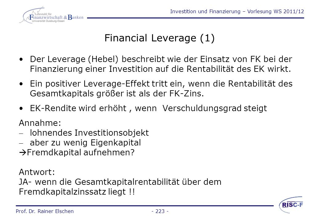 Financial Leverage (1)