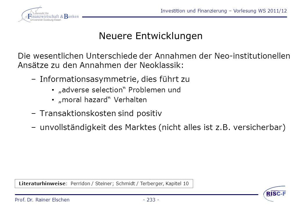 Literaturhinweise: Perridon / Steiner; Schmidt / Terberger, Kapitel 10