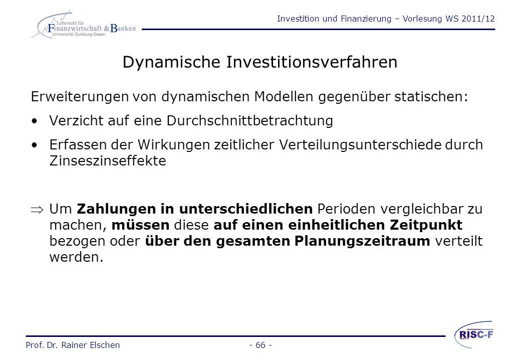 Dynamische Investitionsverfahren