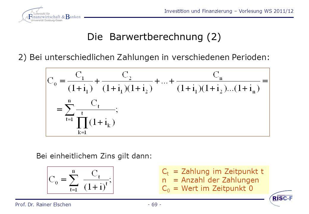 Die Barwertberechnung (2)