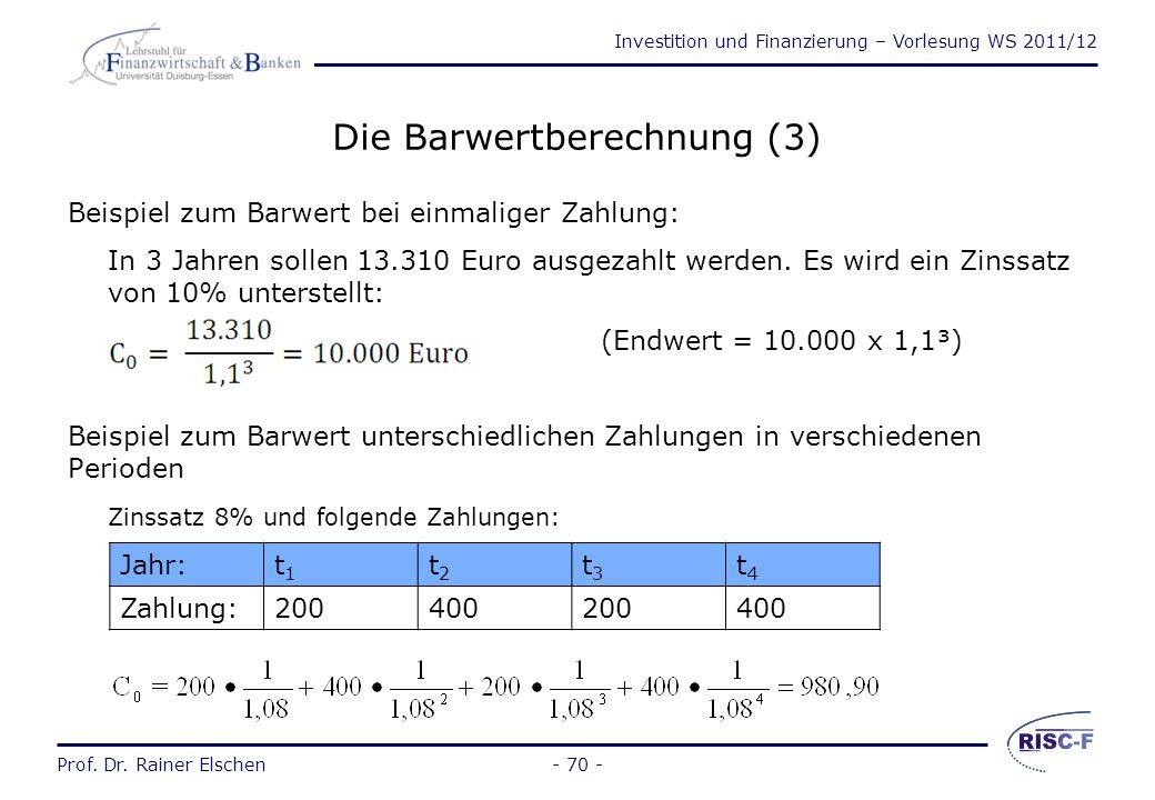Die Barwertberechnung (3)