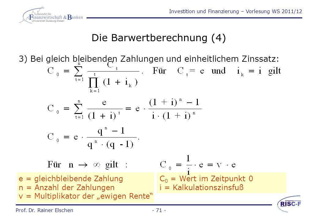 Die Barwertberechnung (4)