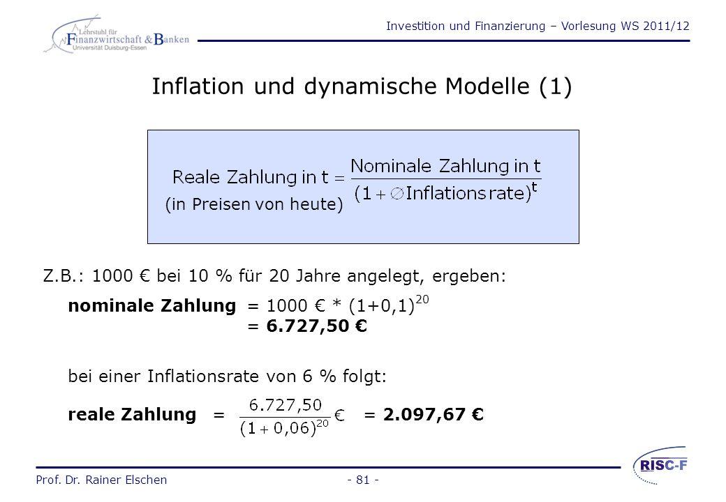 Inflation und dynamische Modelle (1)