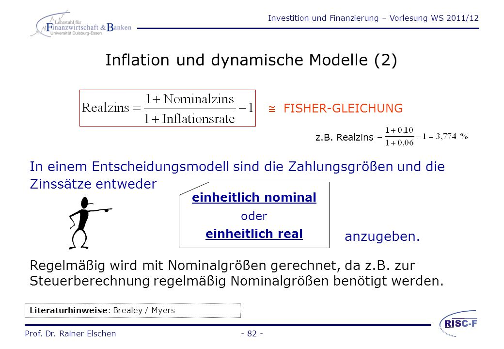 Inflation und dynamische Modelle (2)