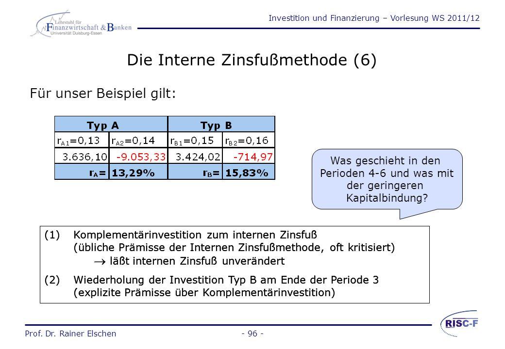 Die Interne Zinsfußmethode (6)