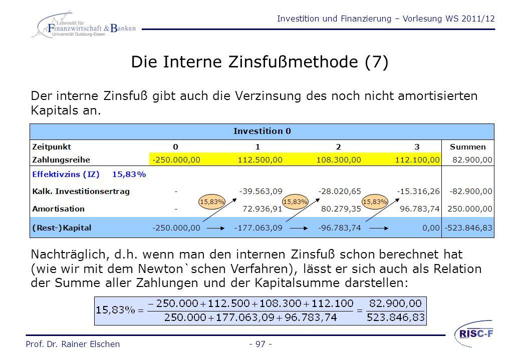 Die Interne Zinsfußmethode (7)