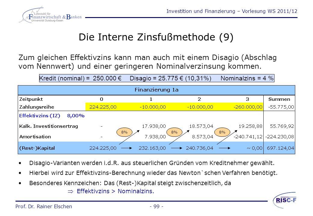 Die Interne Zinsfußmethode (9)