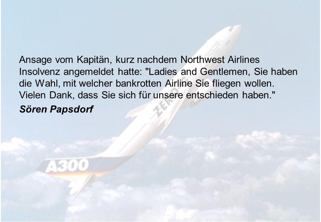 Vor dem Start einer Lufthansa-Maschine von Köln nach München fuhren wir eine ganze Weile hin und her, wendeten und rollten durch die Gegend. Der Lautsprecher ging kurz an, aber wir hörten nur Kichern. Irgendwann kam dann eine Durchsage des Kapitäns, der sein Lachen kaum unterdrücken konnte: Meine Damen und Herren, wir haben uns v-e-r-f-a-h-r-e-n.