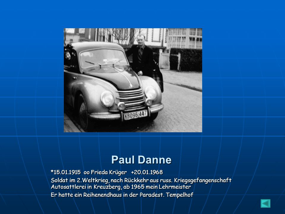Paul Danne *15.01.1915 oo Frieda Krüger +20.01.1968