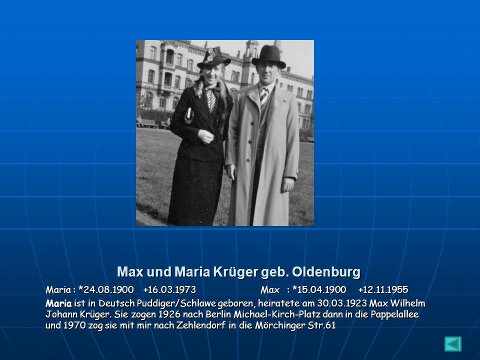 Max und Maria Krüger geb. Oldenburg