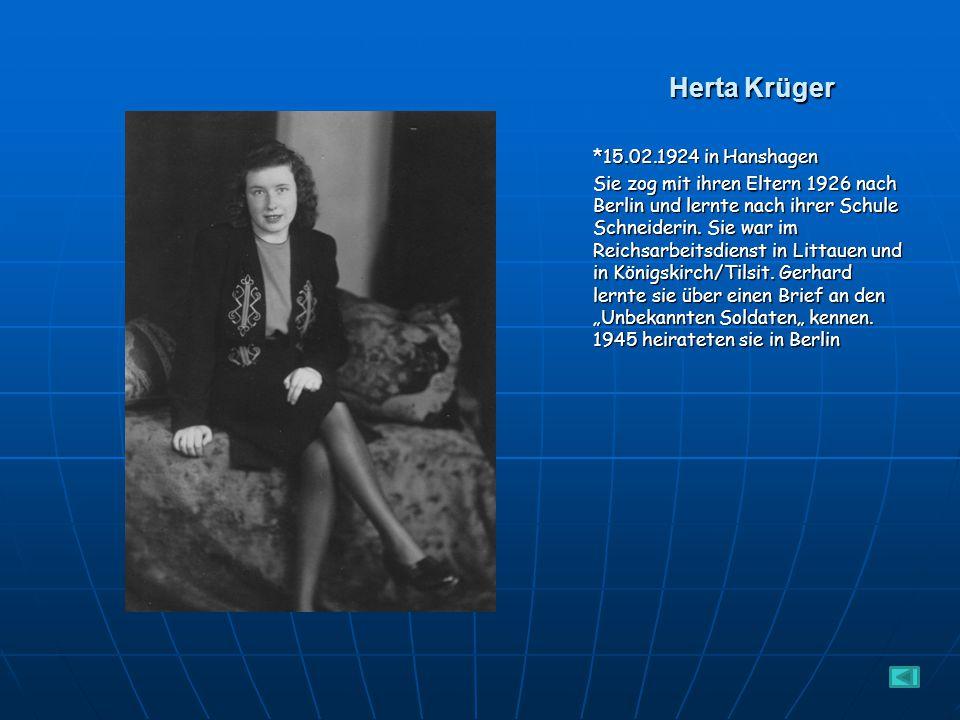 Herta Krüger *15.02.1924 in Hanshagen