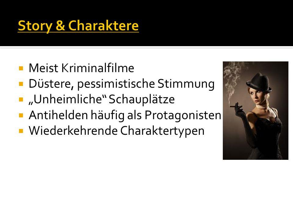 Story & Charaktere Meist Kriminalfilme