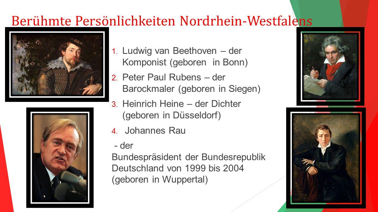 Berühmte Persönlichkeiten Nordrhein-Westfalens