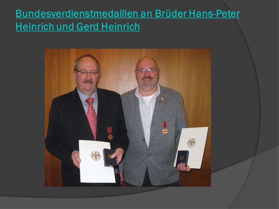 Bundesverdienstmedaillen an Brüder Hans-Peter Heinrich und Gerd Heinrich