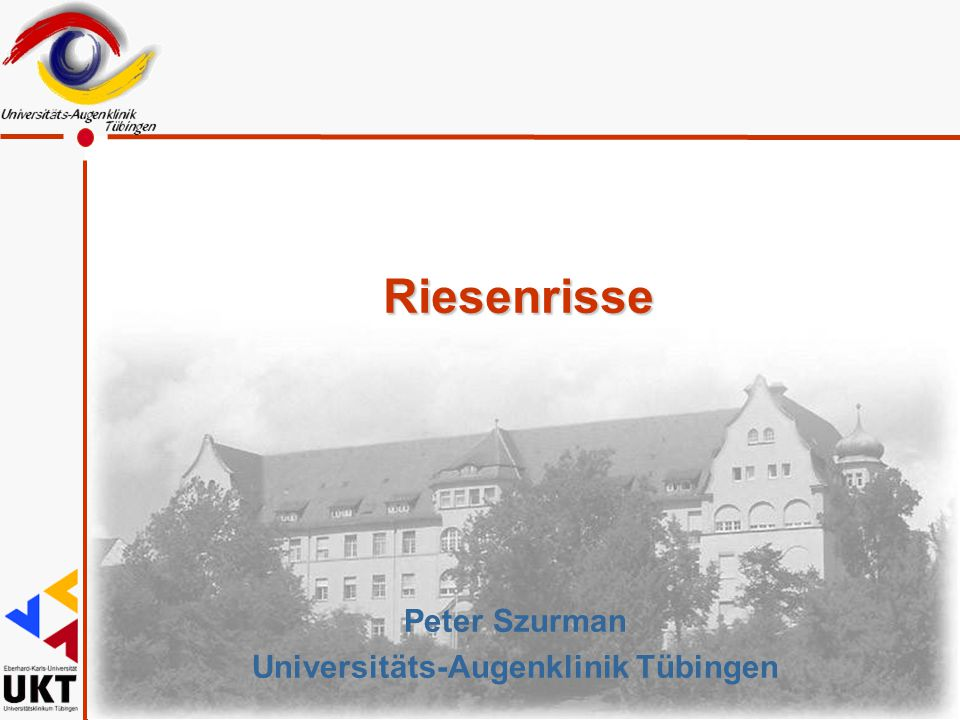 Peter Szurman Universitäts-Augenklinik Tübingen