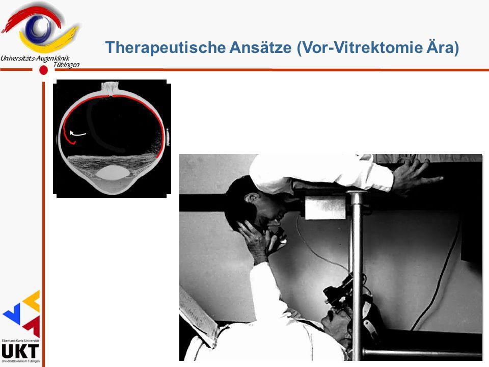 Therapeutische Ansätze (Vor-Vitrektomie Ära)