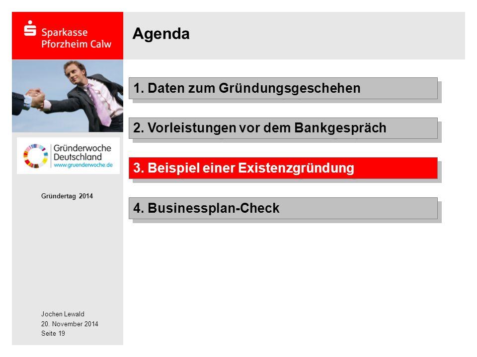 Agenda 1. Daten zum Gründungsgeschehen