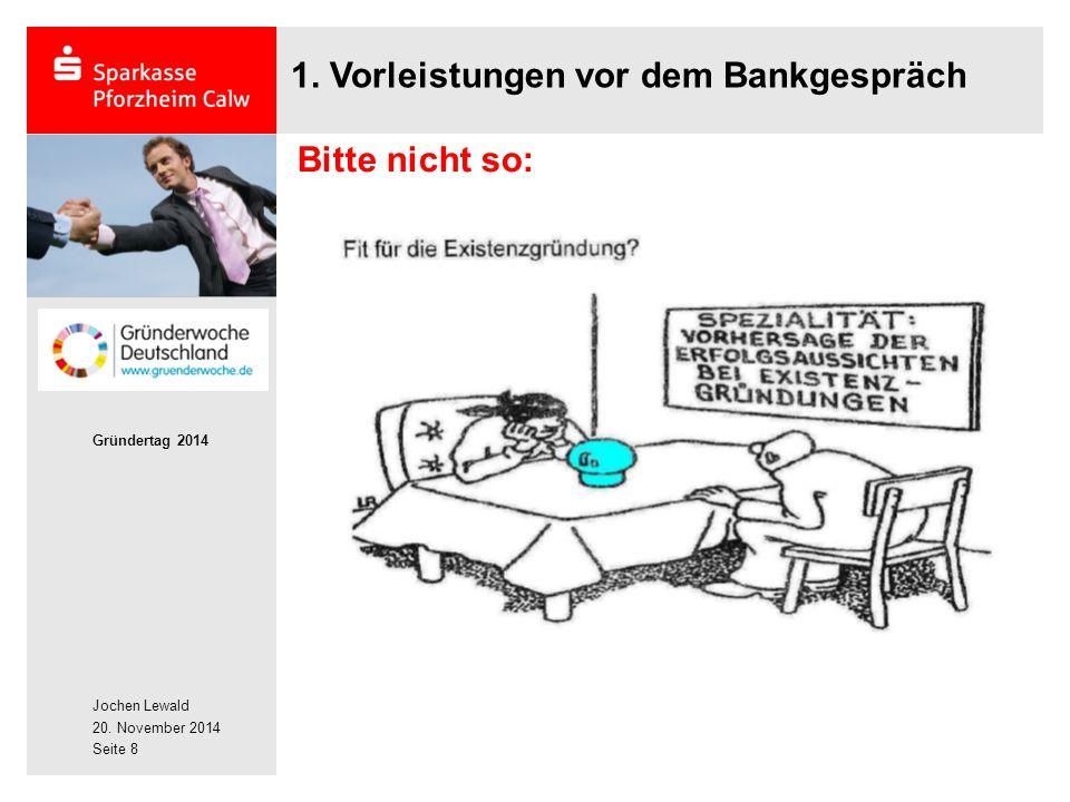 1. Vorleistungen vor dem Bankgespräch