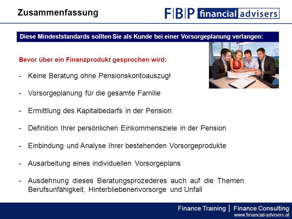 Zusammenfassung Keine Beratung ohne Pensionskontoauszug!