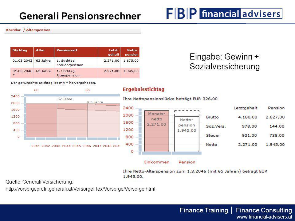 Generali Pensionsrechner