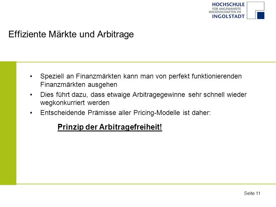 Effiziente Märkte und Arbitrage