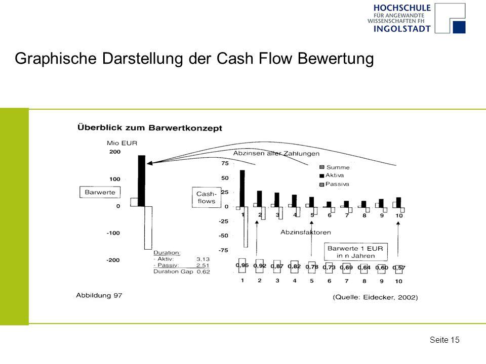 Graphische Darstellung der Cash Flow Bewertung