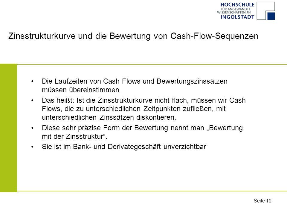 Zinsstrukturkurve und die Bewertung von Cash-Flow-Sequenzen