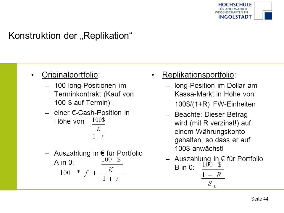"Konstruktion der ""Replikation"