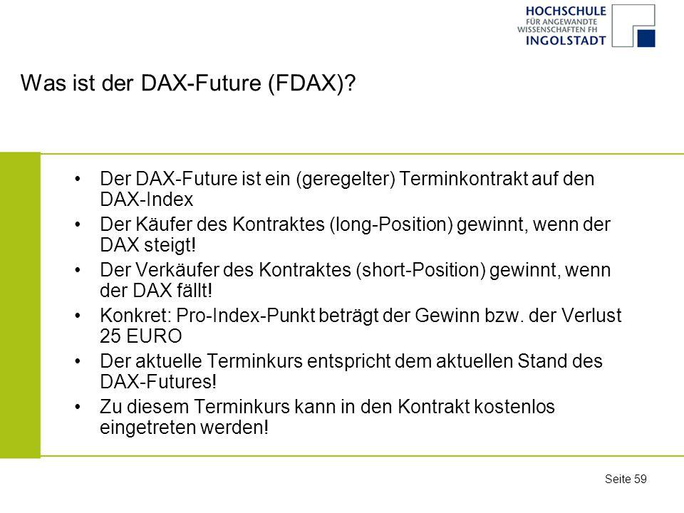 Was ist der DAX-Future (FDAX)