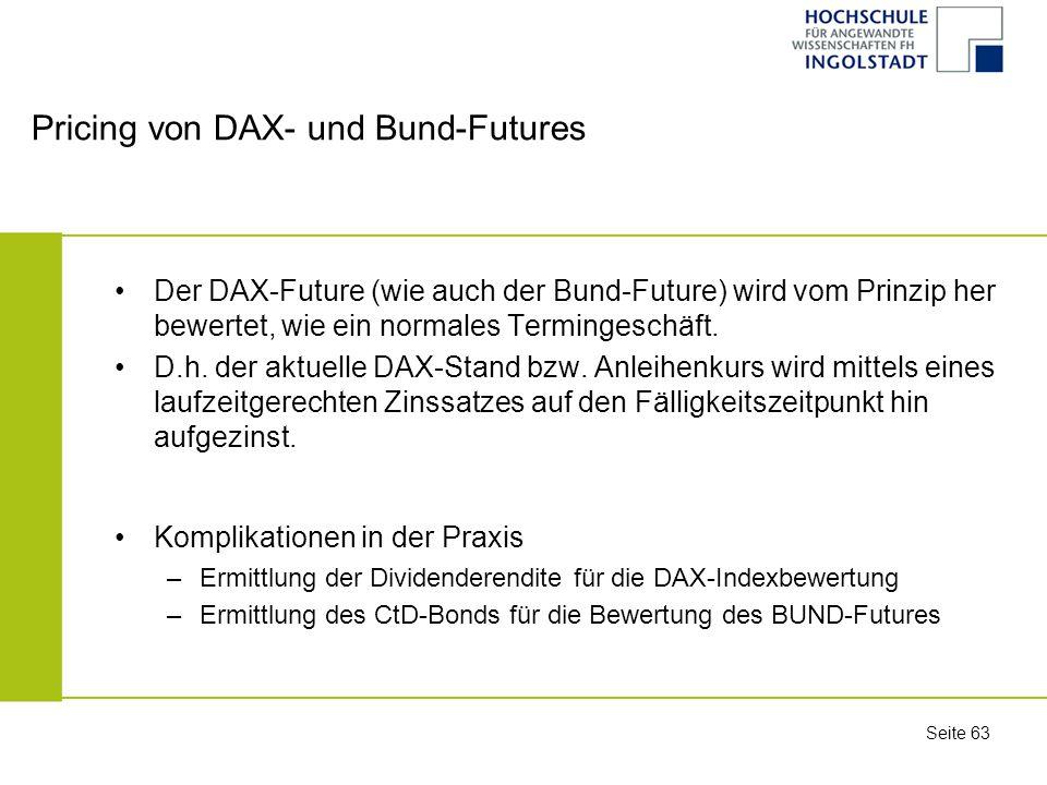 Pricing von DAX- und Bund-Futures