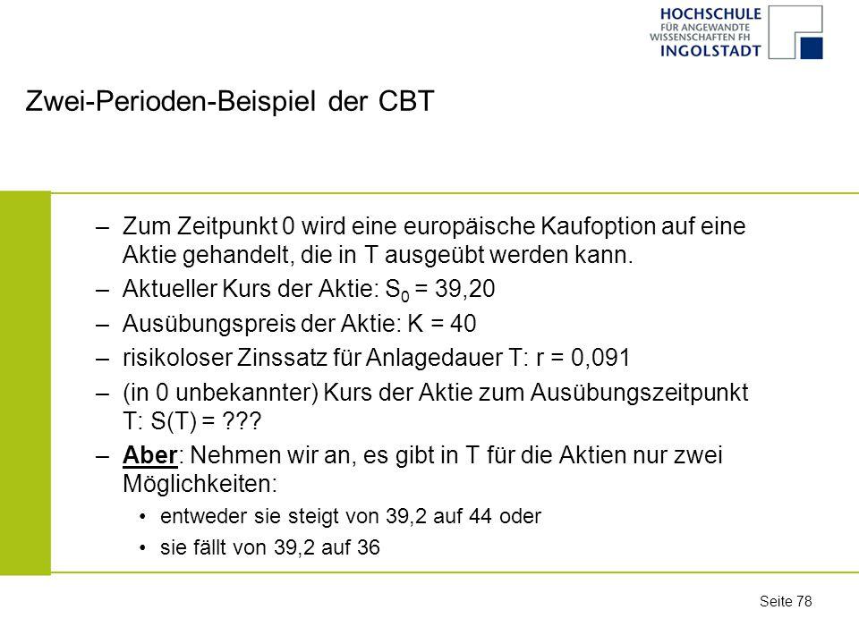Zwei-Perioden-Beispiel der CBT