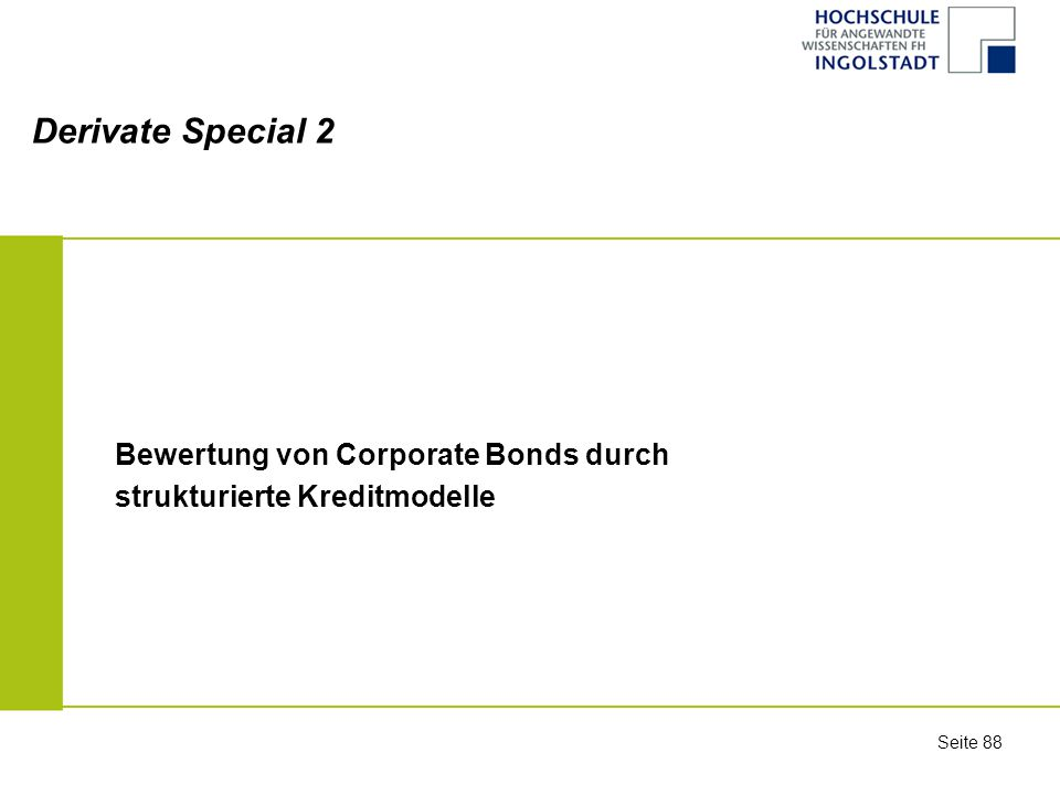 Derivate Special 2 Bewertung von Corporate Bonds durch