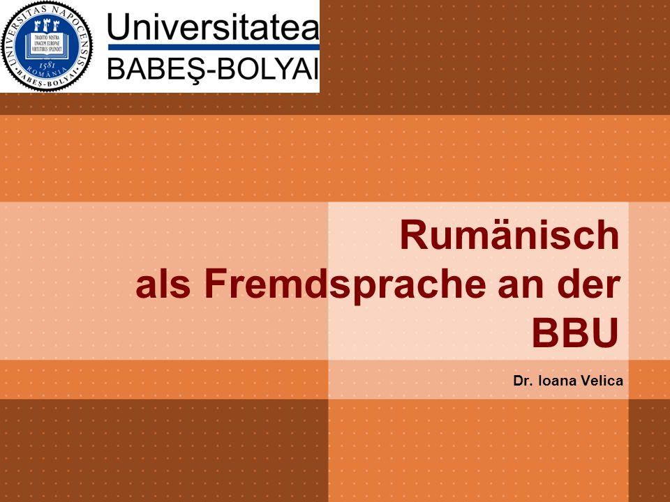 Rumänisch als Fremdsprache an der BBU