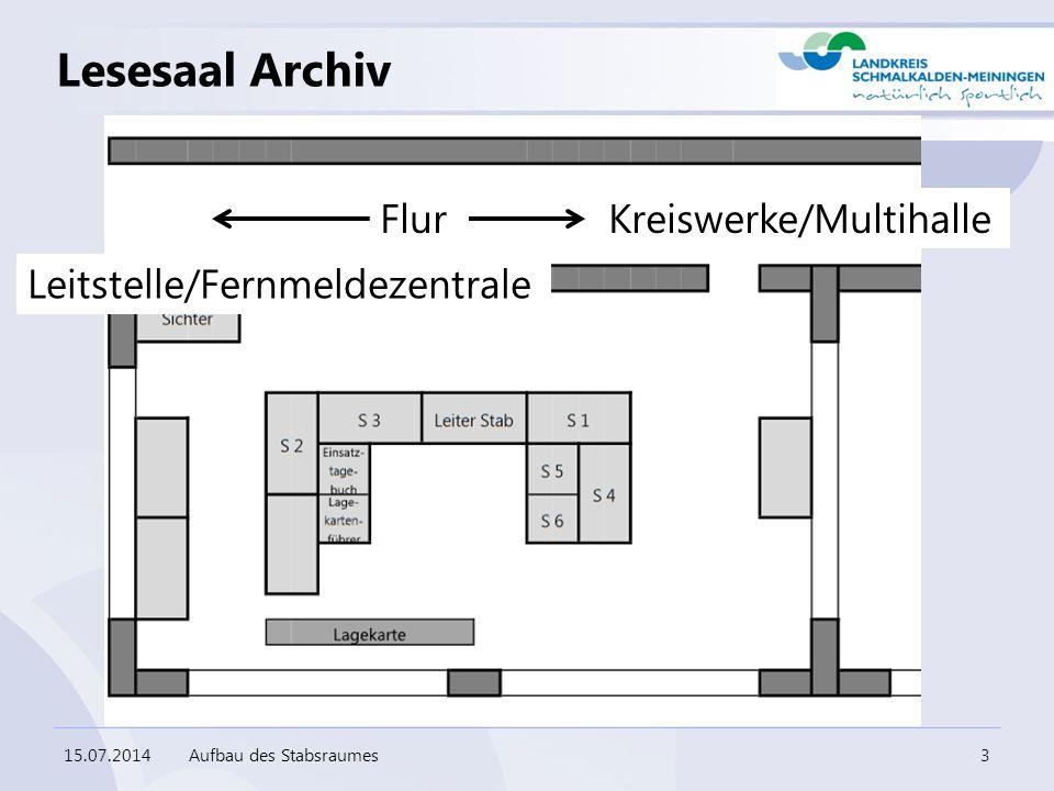 Lesesaal Archiv Flur Kreiswerke/Multihalle