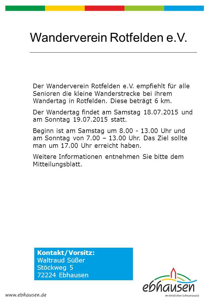 Wanderverein Rotfelden e.V.